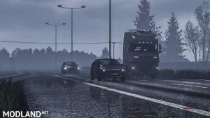 Realistic Rain & Fog & Thunder Sounds V4 ETS2 1.34, 1.35, 1 photo