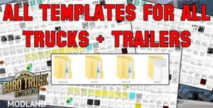 All template for ETS2 (Trucks, Trailers)