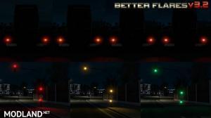 Better Flares v 3.2 for ETS2 plus Default Traffic addon, 3 photo