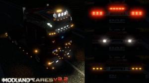 Better Flares v 3.2 for ETS2 plus Default Traffic addon, 1 photo