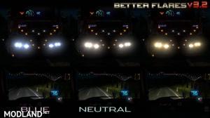 Better Flares v 3.2 for ETS2 plus Default Traffic addon, 2 photo