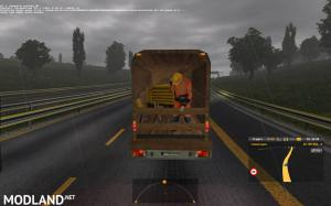 Ford 250 with trailers in traffic 1.35 , 2 photo