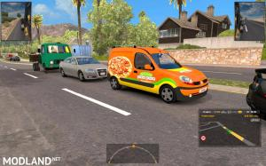 Fiat Ducato and Renault Kangoo in traffic, 3 photo