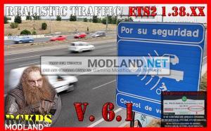 Realistic traffic 6.1 For Euro Truck Simulator 2 V.1.38.x, 1 photo
