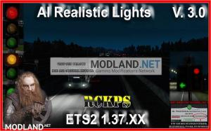 AI Realistic lights V. 3.0 For ETS2 1.37.x, 2 photo