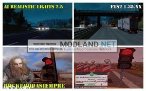 AI Realistic lights V 2.5 for ETS2 1.35.x, 1 photo