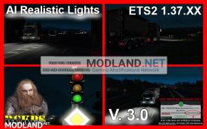 AI Realistic lights V. 3.0 For ETS2 1.37.x, 1 photo