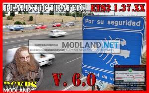 Realistic traffic 6.0 For Euro Truck Simulator 2 V.1.37.XX