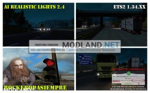 AI Realistic lights V 2.4 for ETS2 1.34.x