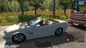 Mercedes Benz Roadster in traffic 1.35