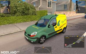 Fiat Ducato and Renault Kangoo in traffic
