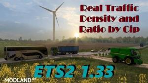 Real Traffic Density and Ratio ETS2 1.33.c