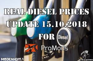 Real Diesel Prices for Promods Map 2.31 (upd.15.10.2018)