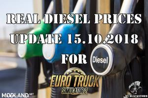 Real Diesel Prices for Euro Truck Simulator 2 map (upd.15.10.2018)
