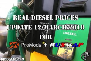 Real Diesel Prices Promods 2.26 & RusMap 1.8 (update 12-03-2018), 1 photo