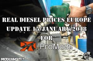 Real Diesel Prices for Europe for Promods 2.25 (Update: 15/01/2017)
