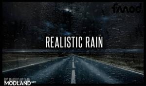 Realistic Rain v 3.7.1 ETS2 1.38