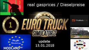 real gasprices/Dieselpreise update 15.08