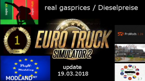real gasprices/Dieselpreise update 19.03