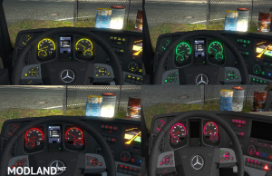 Mercedes Actros MP4 Colored Dashboard, 1 photo