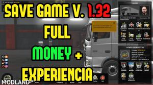 Save Game Perfil No requiere DLC ETS2 V 1.32, 1 photo