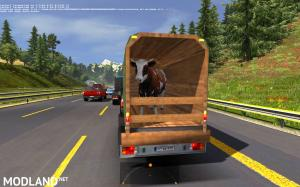 Ford 250 with trailers in traffic 1.35 , 4 photo