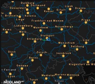 Light Blue Map Layout, 1 photo