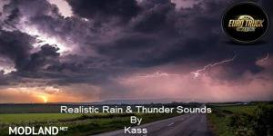 Realistic Rain & Thunder Sounds v3.3 ETS2 1.38