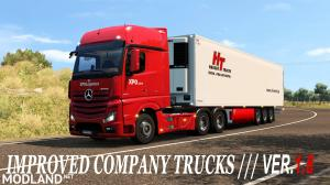 Improved company trucks 1.8, 1 photo