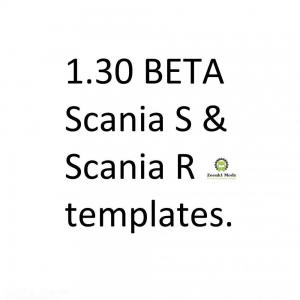 Templates for Scania S & Scania R series 1.30, 1 photo