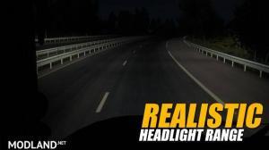 Realistic Headlight Range v1.0 1.28.x