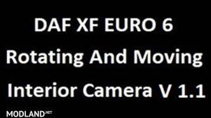 DAF XF Euro 6 rotating and moving interior camera, 1 photo