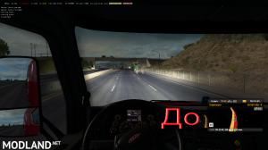 Improved headlights ETS2 1.35, 3 photo