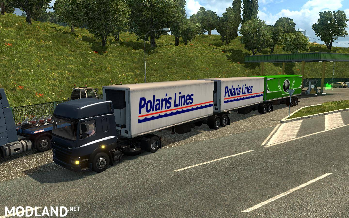 Traffic double triple trailers ETS2 (1 27 x 1 28 x) mod for
