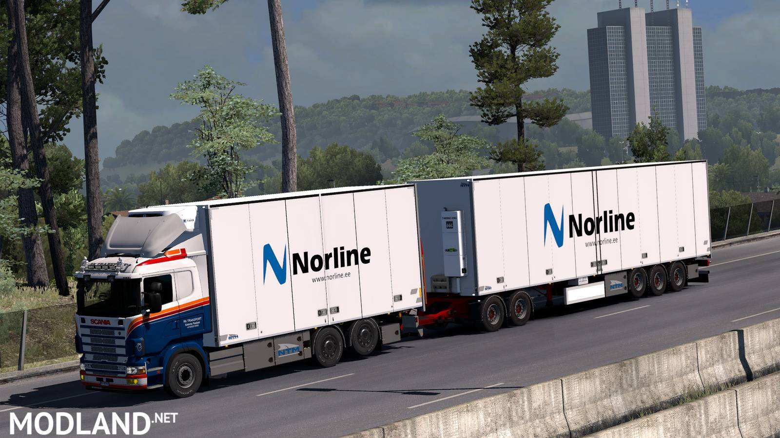Kraker ntm tandem addon for rjl scania rs 1 3 mod for ets 2 for 4 box auto in tandem