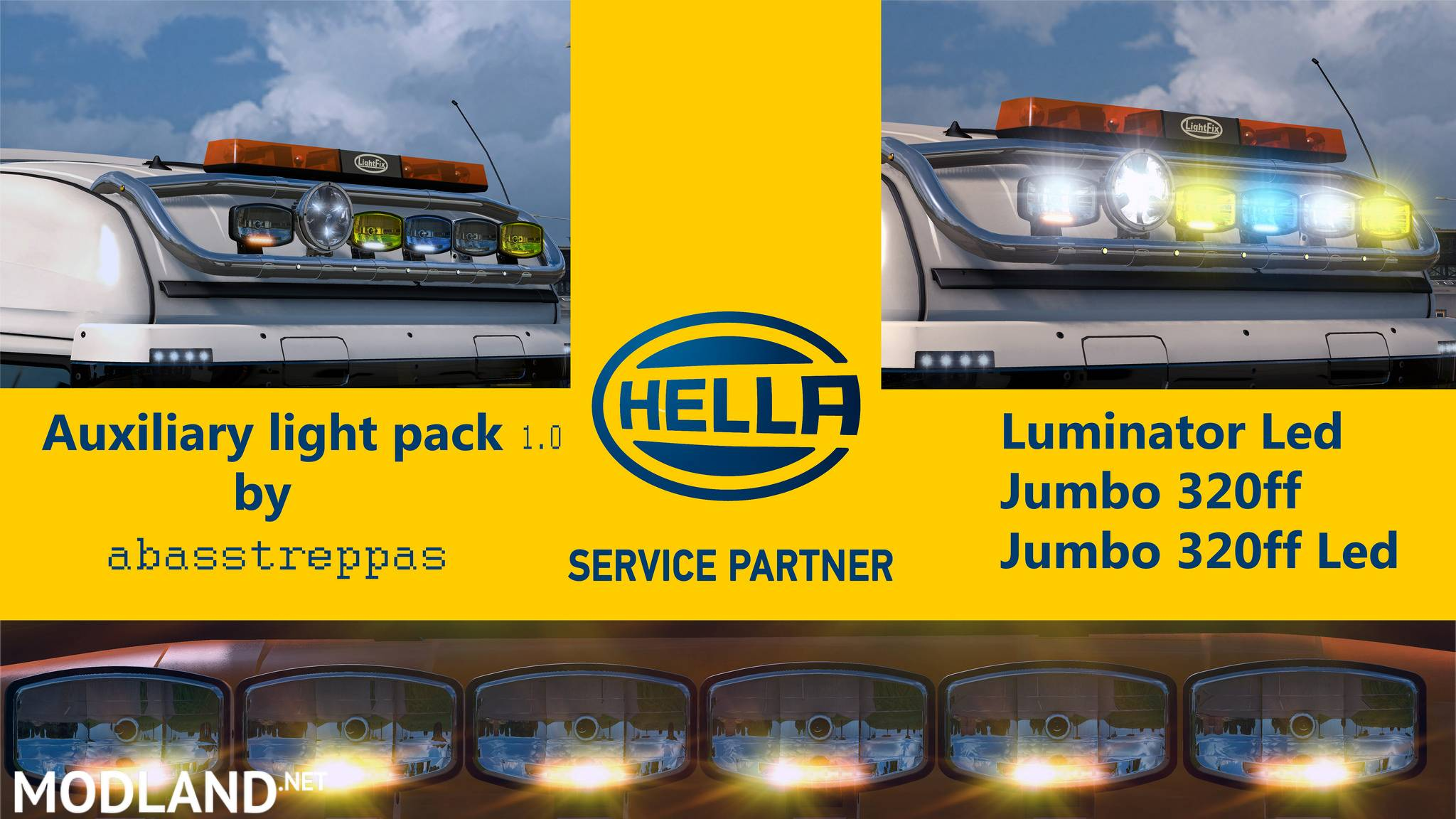 Hella Auxiliary Light Pack 1 0 Updated Mod For Ets 2