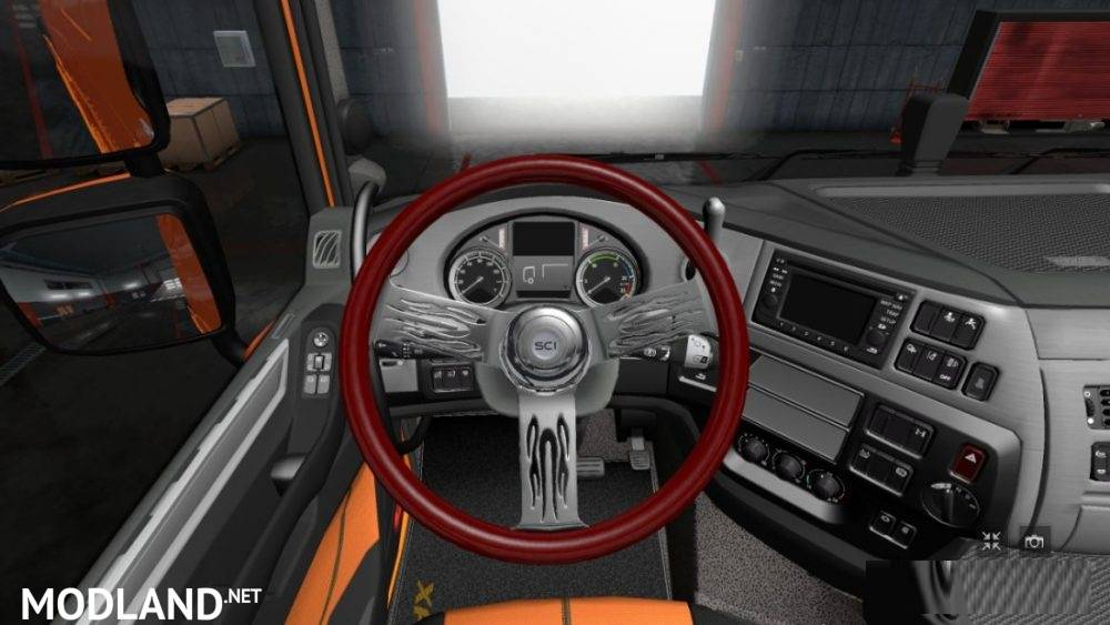 2017 Peterbilt 579 >> DLC Steering Wheel from ATS to ETS2 mod for ETS 2
