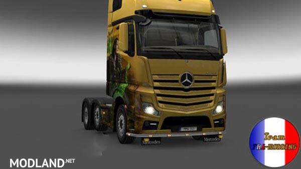 Bottomgrill Mudflaps Mercedes Actros 2014 Mod For Ets 2