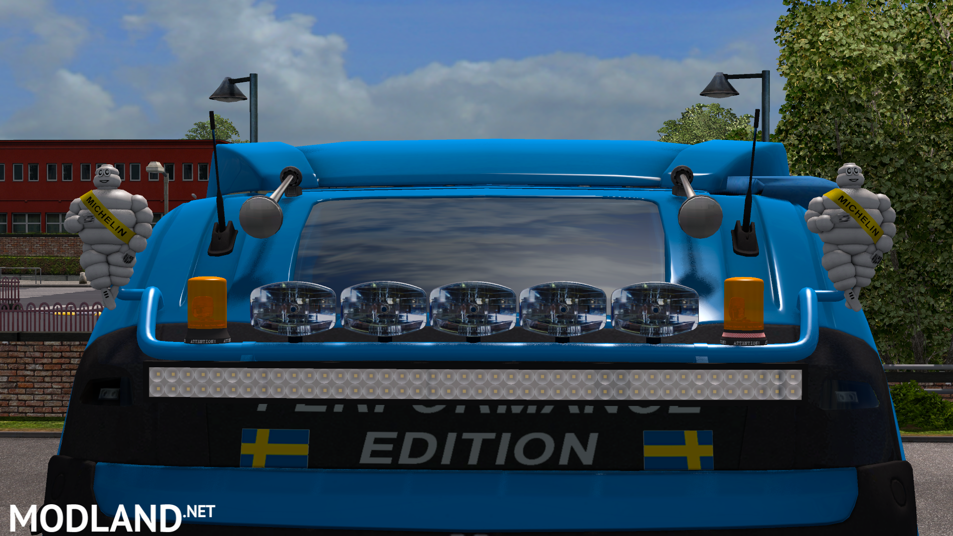 Construction Roof Grill Led Bar Mod For Ets 2