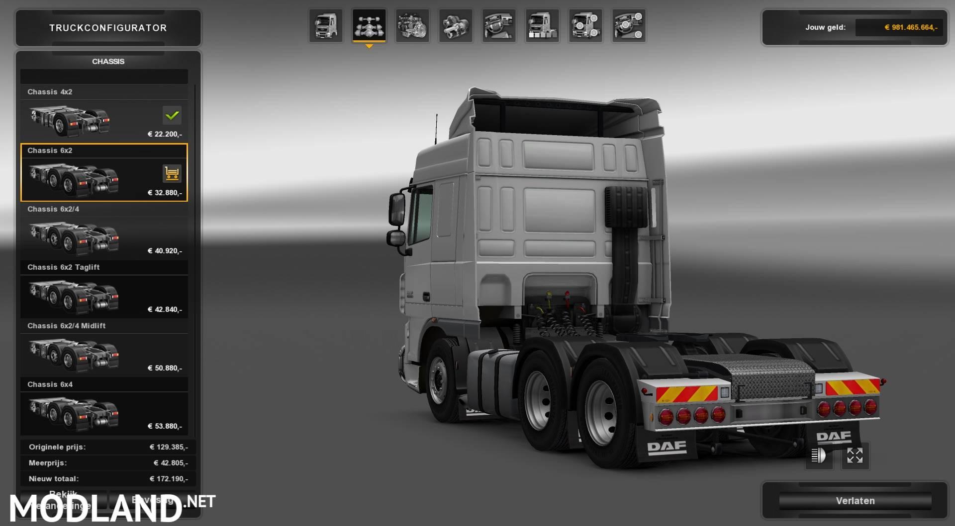 DAF XF Rear Bumper (Working-Multiplayer) V3 mod for ETS 2