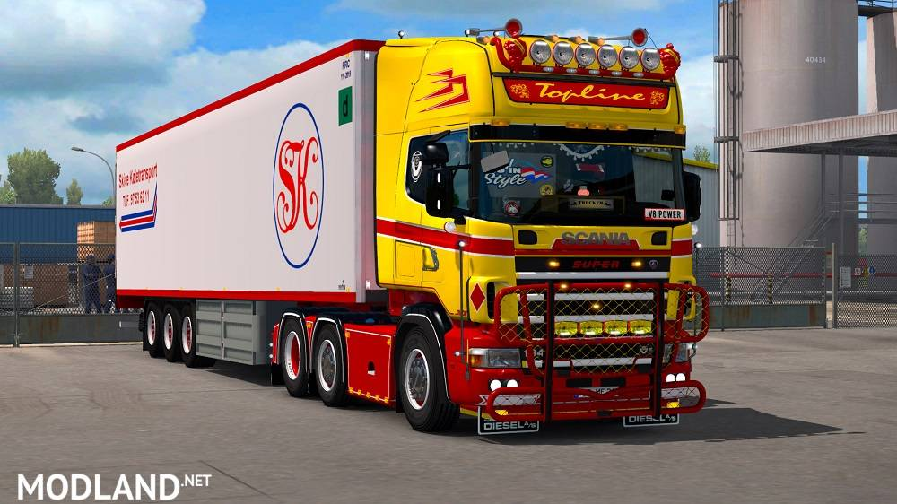 Scania 4 Series Rjl Red Amp Yellow Accessory Pack Mod