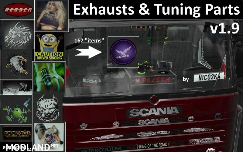 Exhausts Amp Tuning Parts For Trucks V1 9 1 1 28 Mod For Ets 2