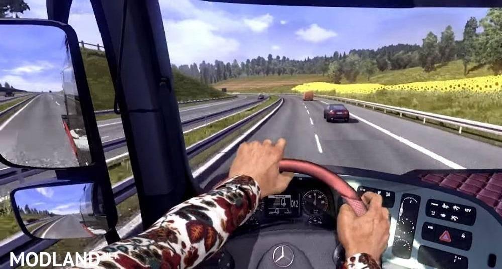 Hands On Steering Wheel V1 25 Mod For Ets 2