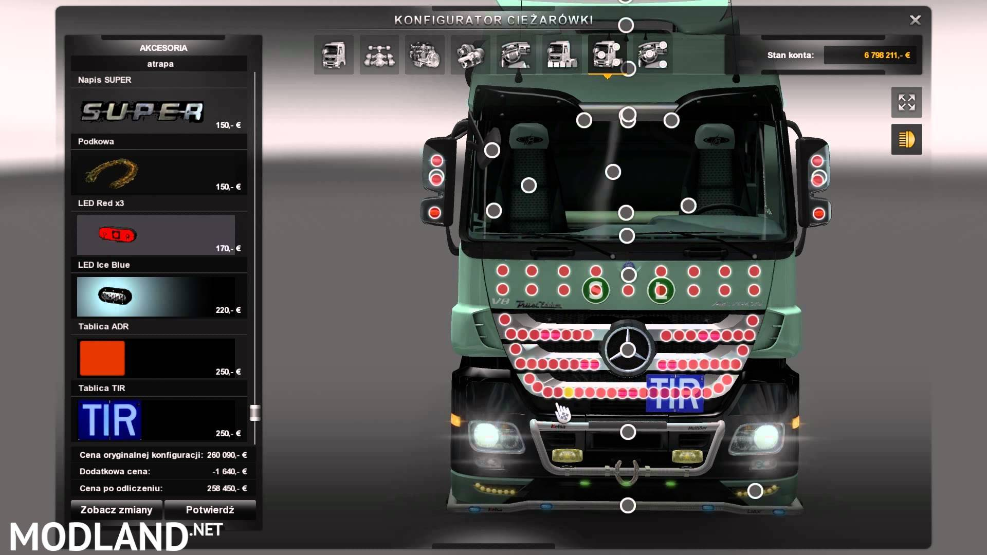 Mega Tuning Mod Mercedes Mod For Ets 2