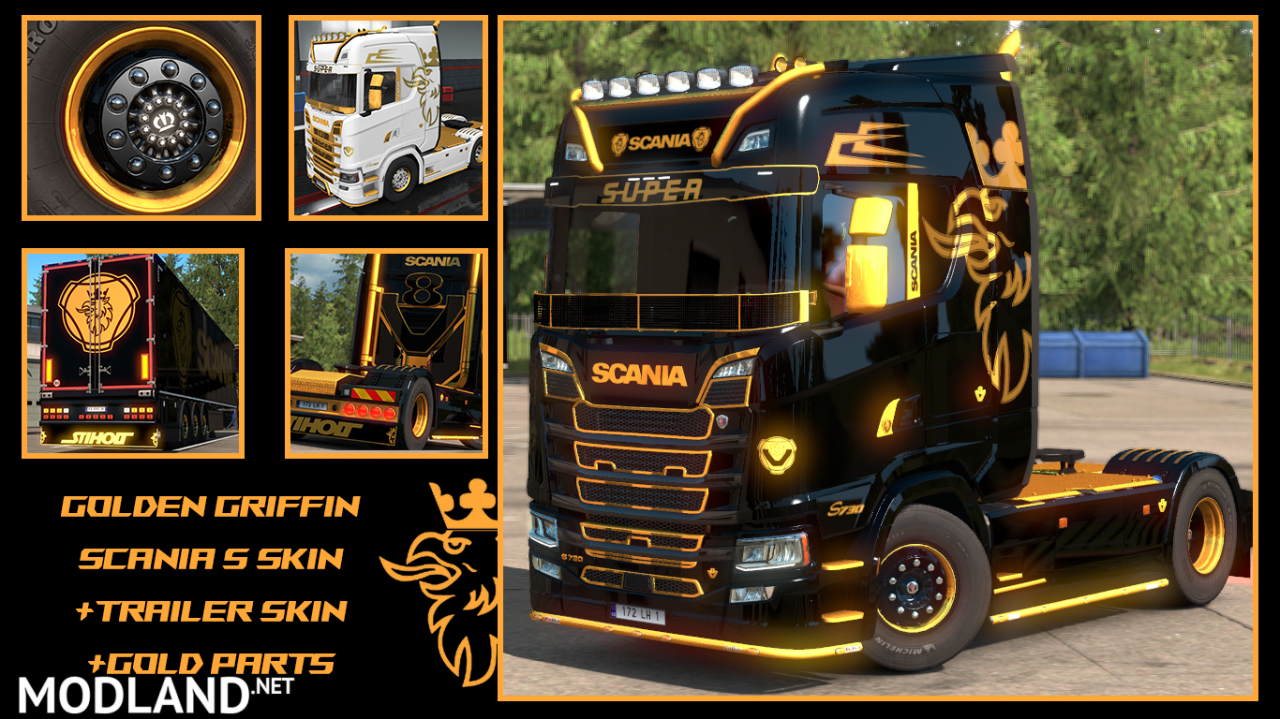 Golden Griffin Scania S parts and Skins