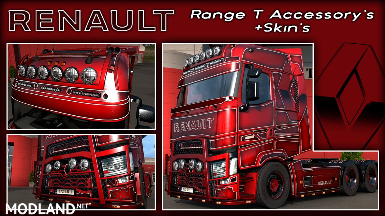 Renault Range T Accessoire's v1.0 + Skin's