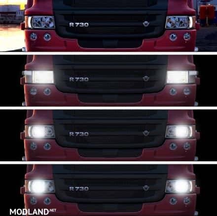 Realistic Headlight Colors For All Trucks