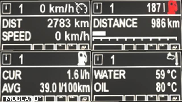 MAN TGX black dashboard