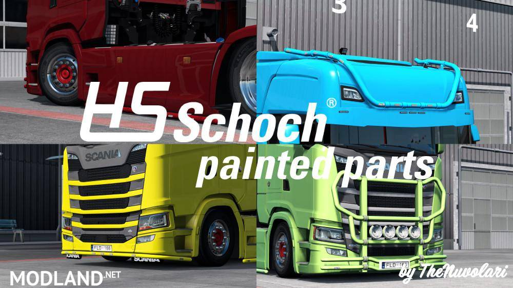 Painted HS-Schoch parts for Scania S & R