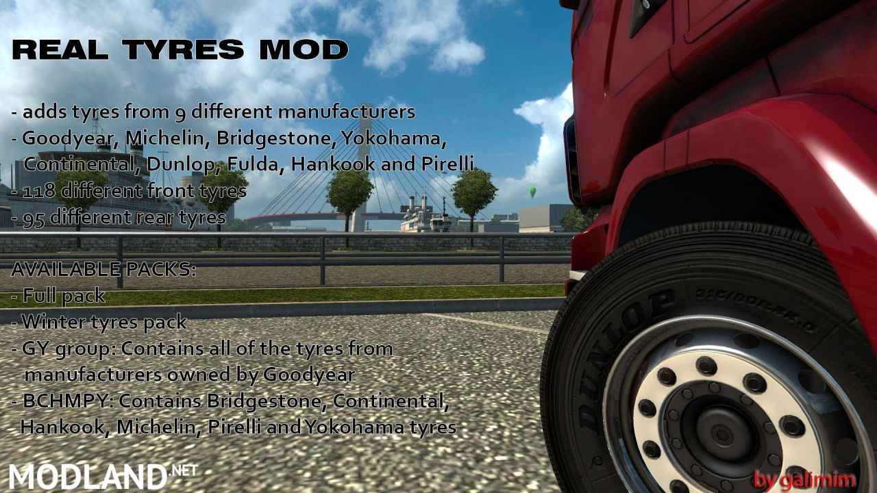 Real Tyres Mod v6.0 (1.27-1.30)